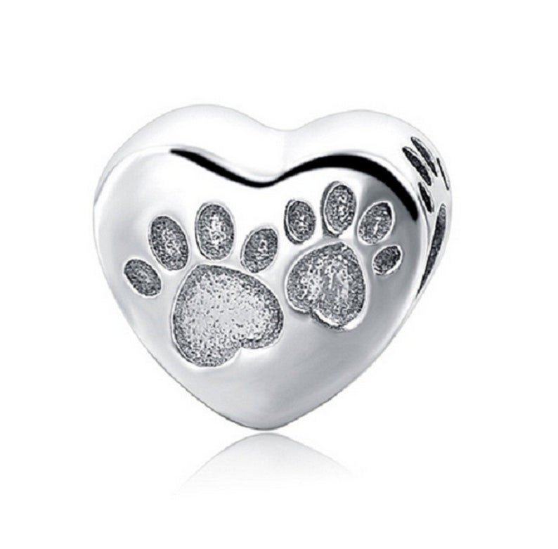 High Quality Charm I Love My Dog Heart Bead Silver 925 Beads Fit Authentic European Bracelets Diy Pendant Jewelry For Women Gift Beads