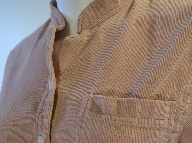 9076bf6297bc2e Dusty Pink Coldwater Creek Corduroy Big Shirt Vintage 90s Band | Etsy