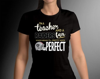 3d01cf6326 I'm a Teacher and I'm A fan of My Favorite Team... Funny Cute T-Shirt for  Teachers or any Profession!