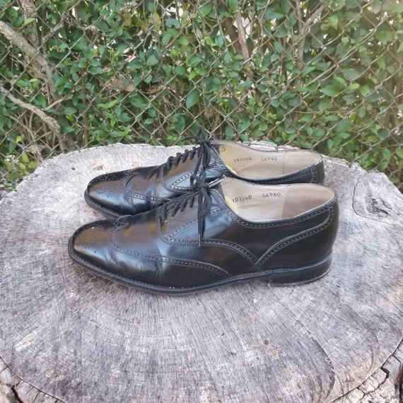 Sz 10 Vintage Flat Lace Oxford Shoes/Genuine Leath