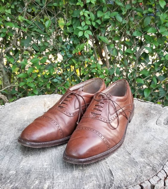 Sz 10.5 Vintage Mens Oxfords/Genuine Leather Lace