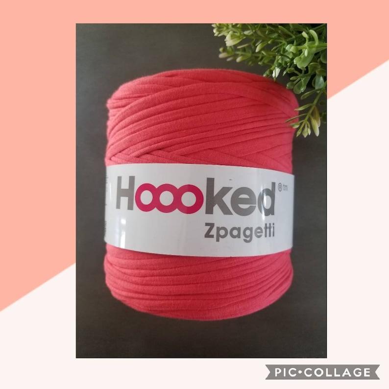 RED FIESTA Hoooked Zpagetti YarnRed Tshirt YarnTrapilloJerseyRecycledSuper ChunkyEco-friendlyCrochetKnittingRed Shade