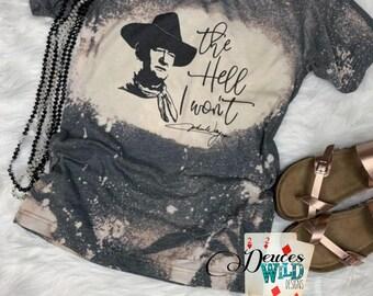 John Wayne Photo Signature Men/'s T Shirt Cowboy Vintage American Legend Western