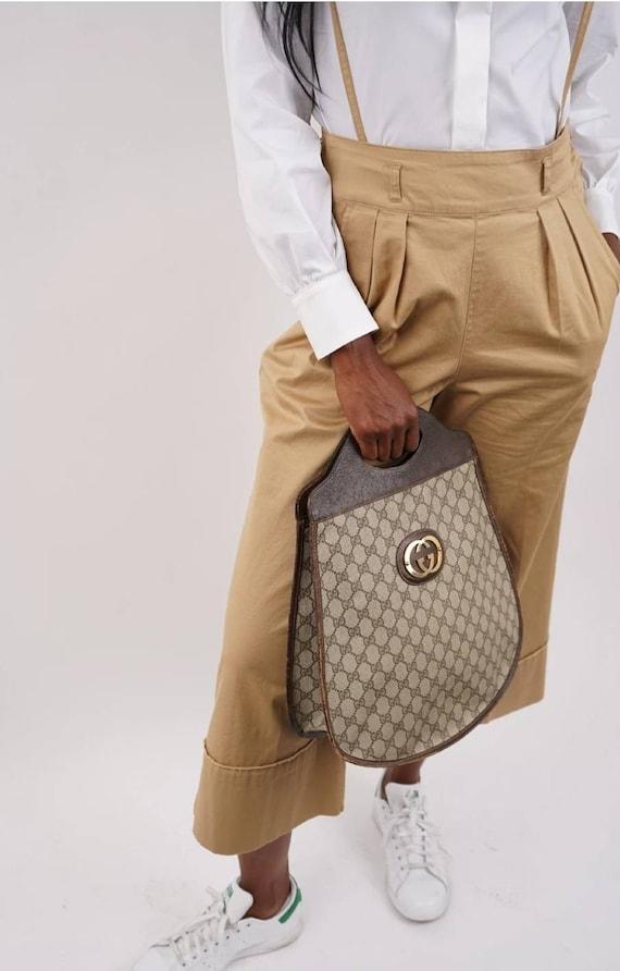 Vintage 1970's Gucci Monogram Tote Handbag - image 2