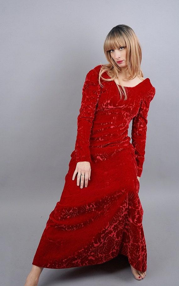 Vintage 1960's Burnout Silk Velvet Dress (XS)