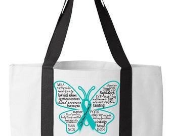 Dysautonomia Bag - Book Tote Bag - Dysautonomia POTS NCS MSA Shirts MerchMade4you