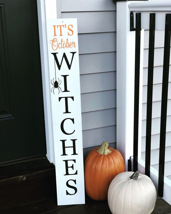 Porch sign halloween sign halloween wooden sign holiday