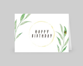 Set of 12 Folded Happy Birthday Cards