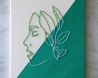 Embroidery on Canvas Painting