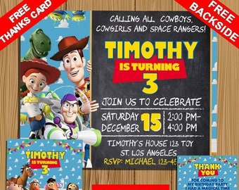 toy story invitation instant download etsy