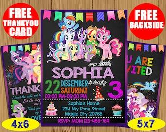 My Little Pony Birthday Invitation Girl Invitations Party