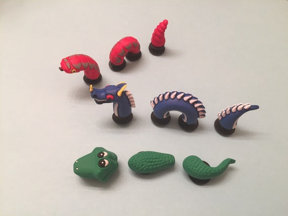 3pcs Similar to Jibbitz fits Crocs Yellow Dragon 3D PVC Shoe Charms