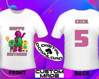 a5ba64ad8b Barney shirt | Etsy