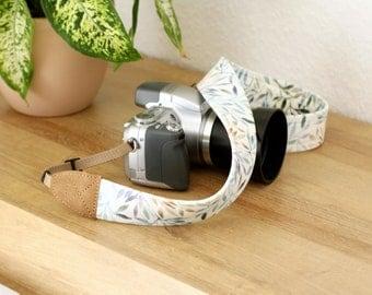 Camera Strap, camera strap with leaves + brown, camera strap for all DSLR-cameras, Canon, Nikon, camera accessories