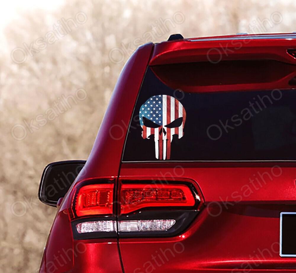 "Corvette C6 American Flag Decal is 6/"" x 4/"""