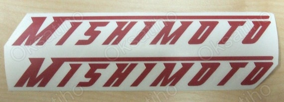 2* MISHIMOTO Sticker Vinyl Decal Graphics Die Cut Self Adhesive Emblem Logo/_1270