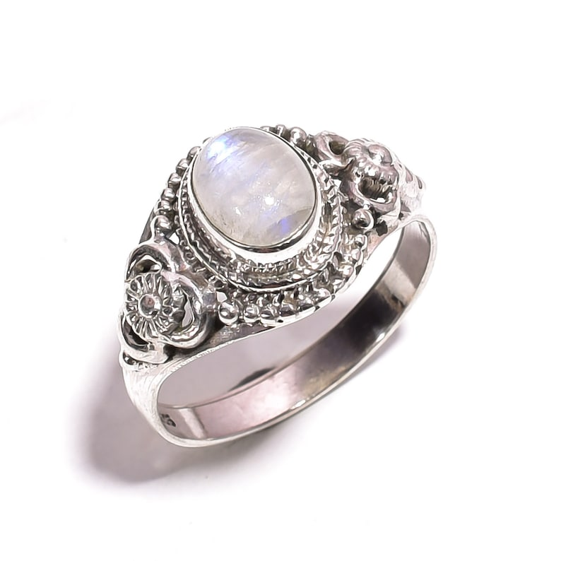 925 Sterling Silver RAINBOW MOONSTONE Pendant 2.75