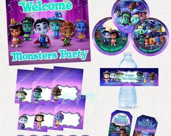 Super Monsters Digital Party Package
