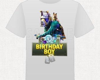 Fort game Shirt Birthday Boy