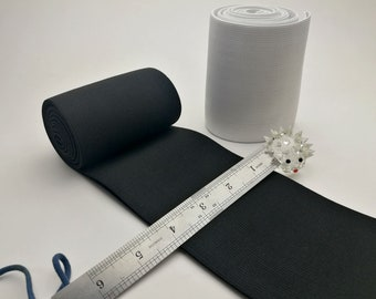 "Crafts Super Quality Woven White Elastic Tailoring 1 and a 1//2/"" wide"