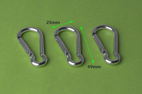 Bulk carabinersilver aluminum carabiner hook 30 pcs