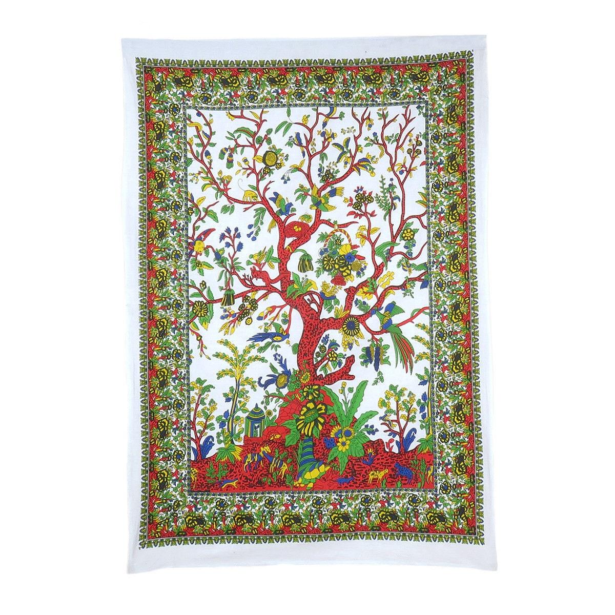 Wall Tapestry Tree Of Life Wall Poster Hippie Mandala Wall Decor Art