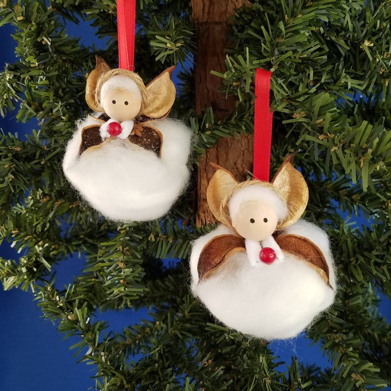 Cotton Angel Handmade Christmas Ornament image 0