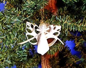 Cut Shell Angel Handmade Nautical Christmas Ornament, Beach Decor