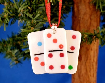 Handmade Dominoes Game Christmas Tree Ornament