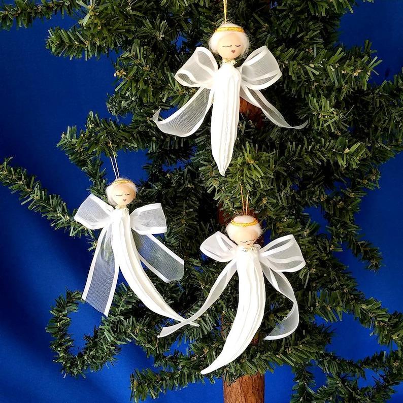 Okra Angel Handmade Christmas Ornament image 0
