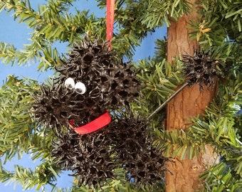 Sweetie Poodle Handmade Sweet Gum Ball Christmas Ornament