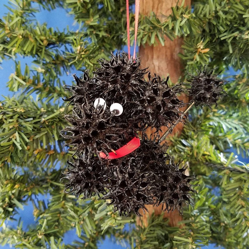 Sweetie Poodle Handmade Sweet Gum Ball Christmas Ornament image 0