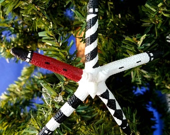 North Carolina Lighthouse Starfish Handmade Nautical Christmas Ornament, Beach Decor