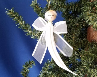 Okra Angel Handmade Christmas Ornament