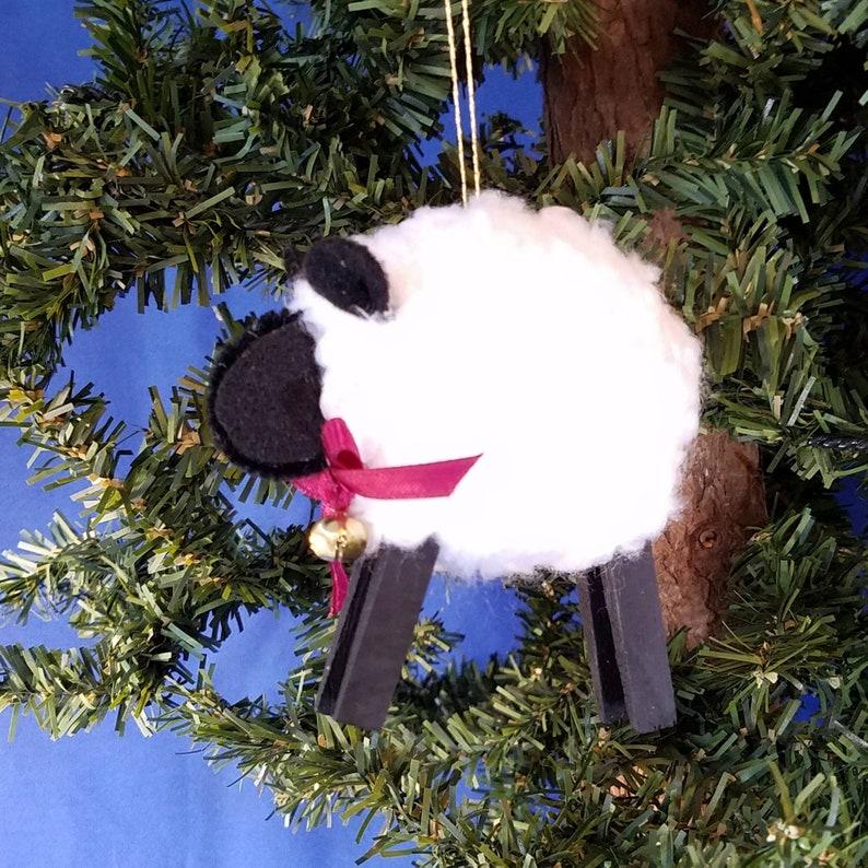Woolly Sheep Handmade Christmas Ornament image 0