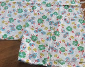 Lot of TWO Vintage Authentic 1930 39 s Green Floral Cotton Feedsack 44X36 quot each