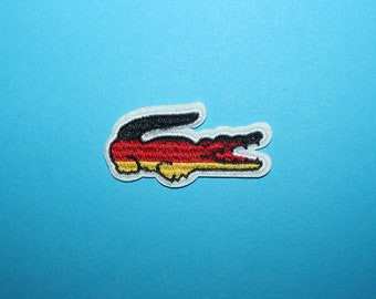 ced830cbd25fe4 2.4in 1.2in 6cm 3cm Embroidered Iron On Patch Logo Emblem Badge