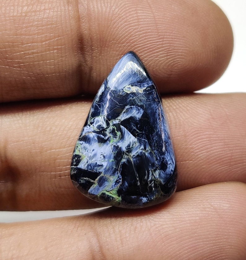 Natural Fabulous Namibian Pietersite Pear Cabochon 18 Cts Blue Shade Smooth Cabochon Loose Gemstone Perfect For Jewelry Making