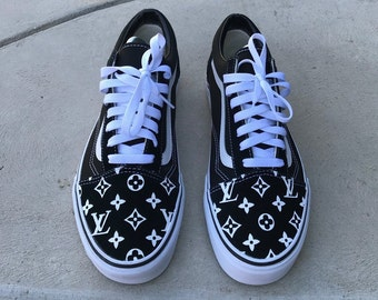 1b9955d9a7 Customised Louis Vuitton Authentic VANS Old Skool unisex Trainers Sneakers  Men and Women sizes