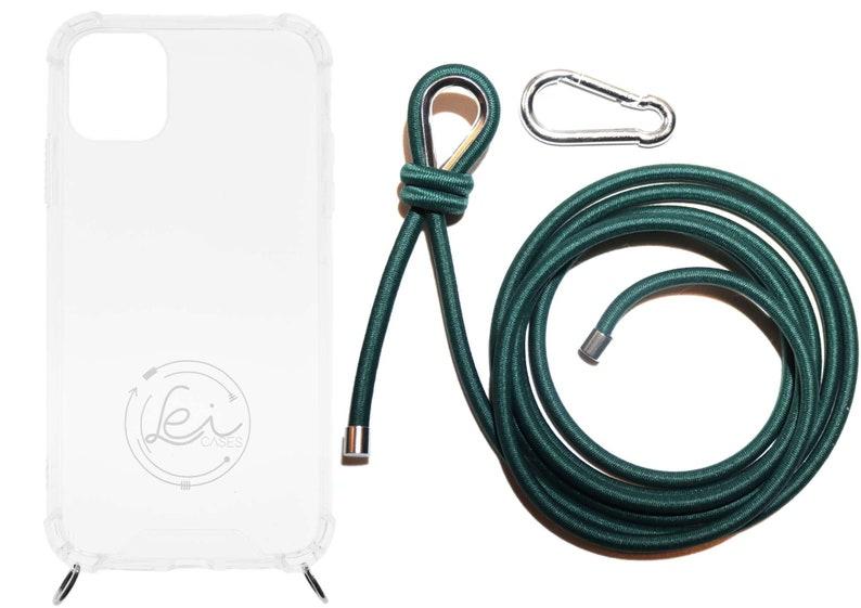 Lei Case FLEXIBLE Handykette PETROL mit Karabiner f\u00fcr deine Schl\u00fcssel