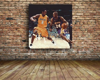 buy online e2034 81545 Kobe Bryant  8 vs Kobe  24 Lakers 24 x 24 Canvas Glossy Print of the Black  Mamba