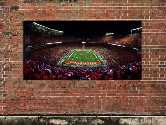 Ohio State Football Stadium Panoramic Canvas Print 36 inch The Shoe Ohio State