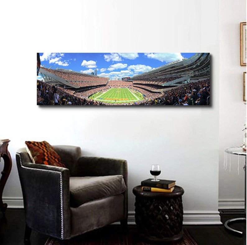 """Chicago Bears poster wall decor photo print 24x24/"""" inches"""
