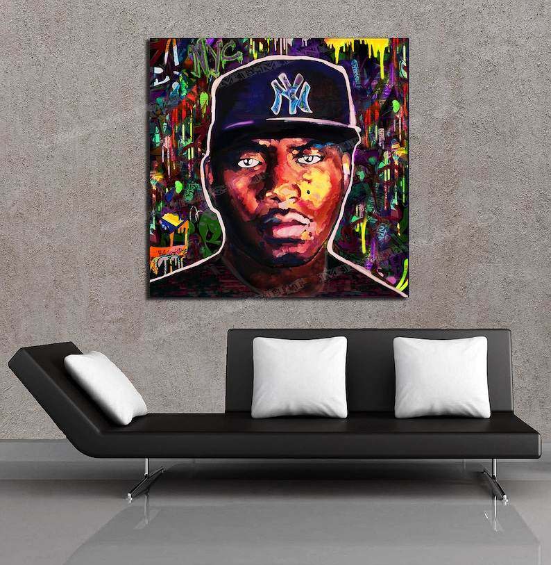 NAS Nastradamus God's Son Hip Hop Painting New York Brooklyn 24 x 24 HD NAS  Canvas Print - Ready to Hang
