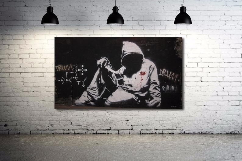 Brainwash Canvas Print only  24 x 24 Old School Hip Hop Grafitti Jay-Z Mr