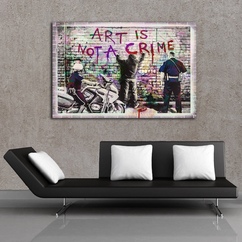 NEW YORK GRAFFITI HIGHEST QUALITY CANVAS PRINT WALL ART PICTURE READY TO HANG