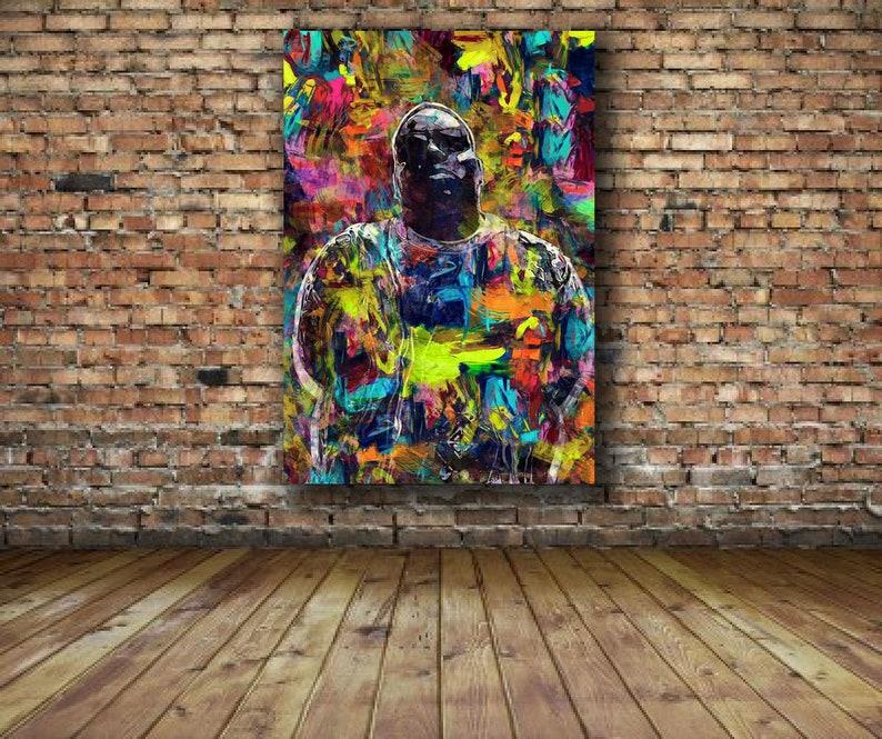 Biggie Smalls Notorious BIG 24 x 24 Canvas Print Hip Hop Poster Mural