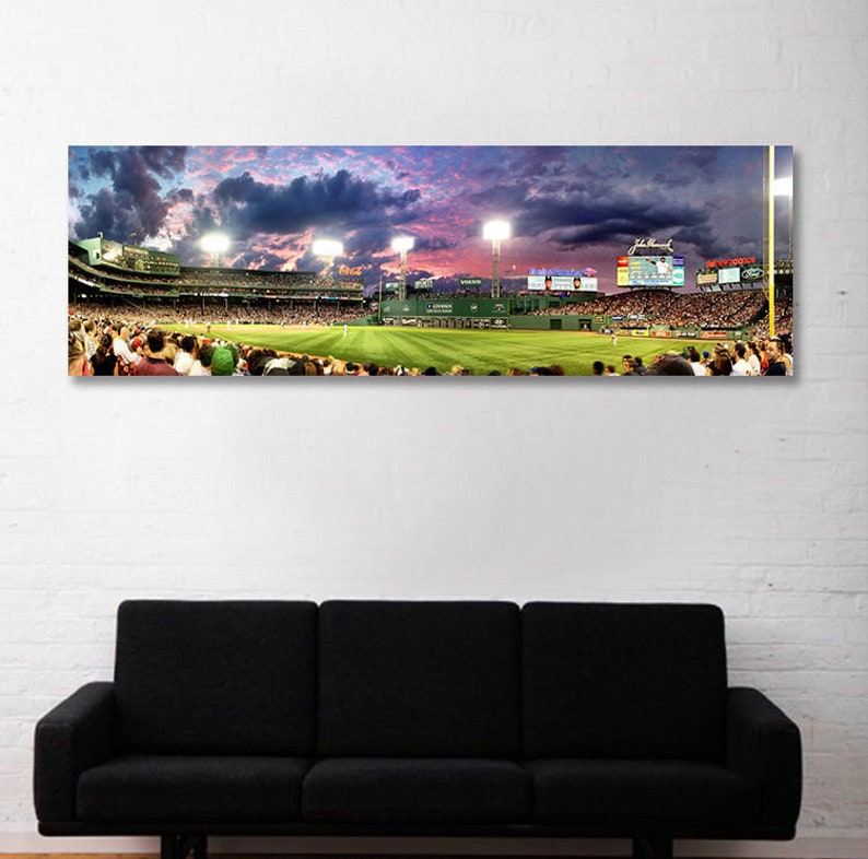 Outside Fenway Park in Boston House of Blues Print Boston Streets Canvas//Gloss