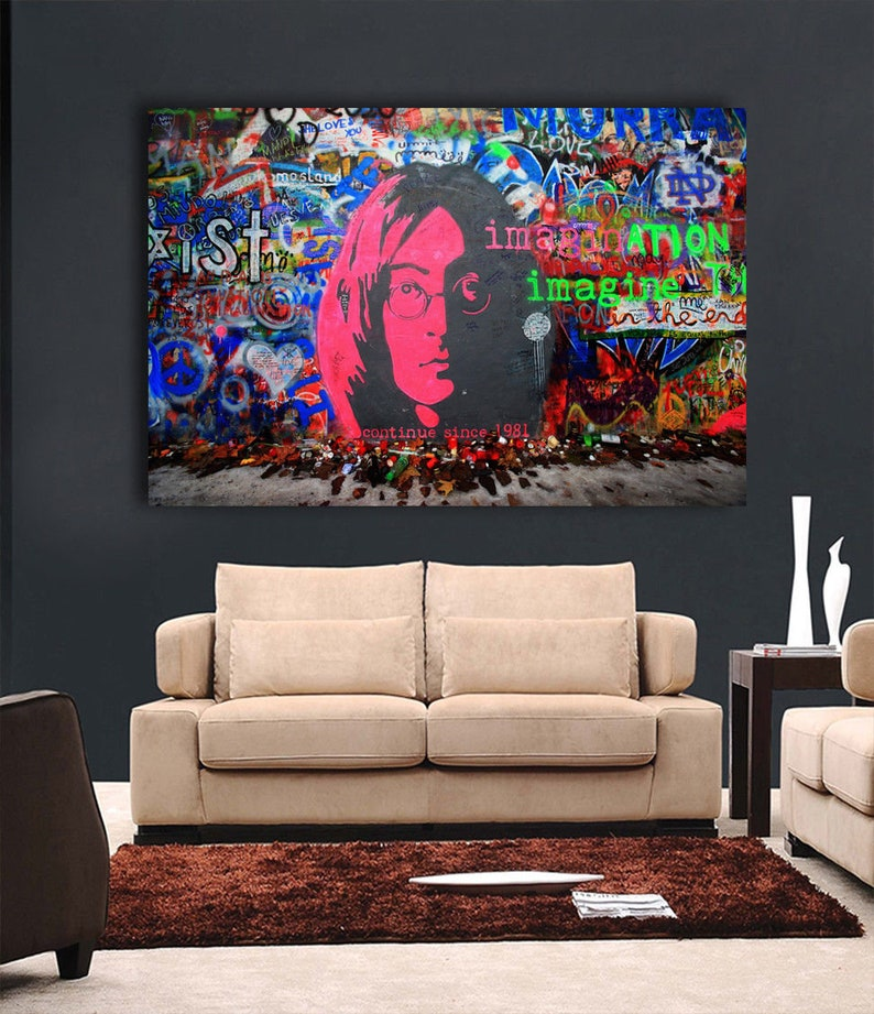 BANKSY POSTER IMAGINE STREET GRAFFITI ART THE BEATLES WALL PICTURE PRINT LARGE