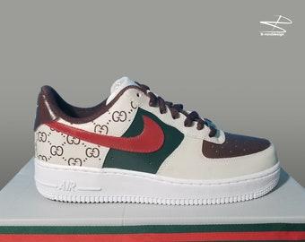 Custom Nike Air Force 1 Gucci Print